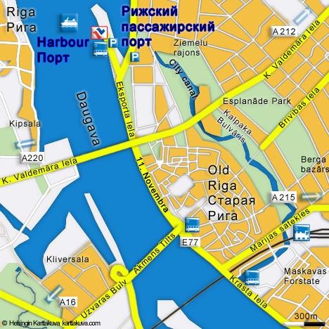 NAPAROME.RU RIGA. Латвия. Рижский Пассажирский порт. Карта ...: http://tallink.narod.ru/riga.html